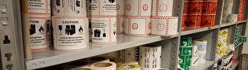 Gevarenlabels gevaarsetiketten pijlen UN-geteste verpakkingen plaquards containerlabels
